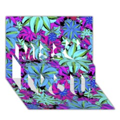 Vibrant Floral Collage Print Miss You 3d Greeting Card (7x5)