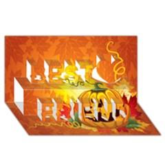 Halloween Pumpkin Best Friends 3d Greeting Card (8x4)