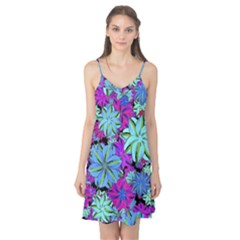 Vibrant Floral Collage Print Camis Nightgown