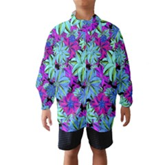 Vibrant Floral Collage Print Wind Breaker (Kids)