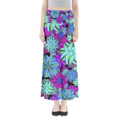 Vibrant Floral Collage Print Maxi Skirts