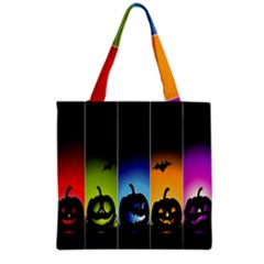 Hellowen Face Grocery Tote Bag