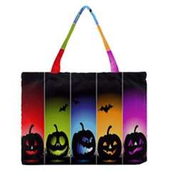 Hellowen Face Medium Zipper Tote Bag