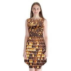 Honey Honeycomb Jpeg Sleeveless Chiffon Dress