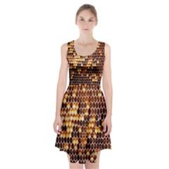 Honey Honeycomb Jpeg Racerback Midi Dress