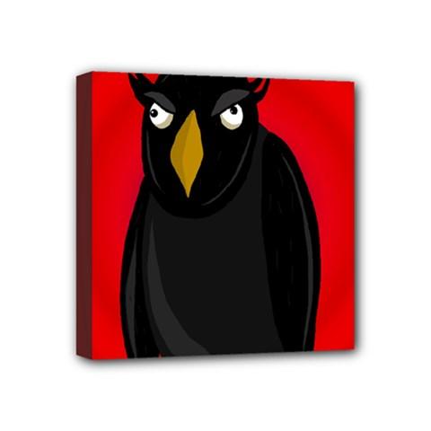 Halloween - old raven Mini Canvas 4  x 4