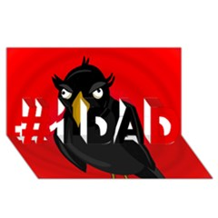 Halloween - old raven #1 DAD 3D Greeting Card (8x4)