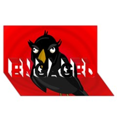 Halloween - old raven ENGAGED 3D Greeting Card (8x4)