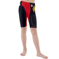 Halloween - old raven Kids  Mid Length Swim Shorts