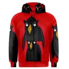 Halloween - old raven Men s Zipper Hoodie