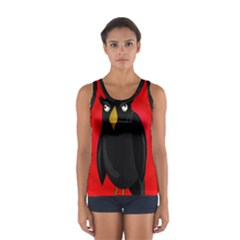 Halloween - old raven Women s Sport Tank Top