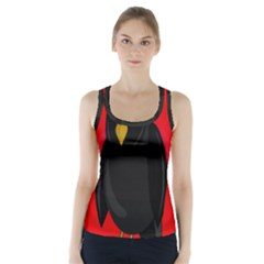 Halloween   Old Raven Racer Back Sports Top