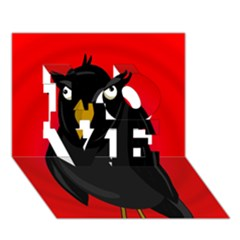 Halloween - old raven LOVE 3D Greeting Card (7x5)