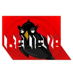 Halloween - old raven BELIEVE 3D Greeting Card (8x4)