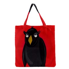 Halloween - old raven Grocery Tote Bag