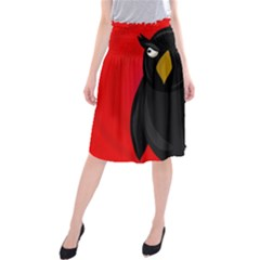 Halloween - old raven Midi Beach Skirt
