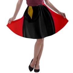 Halloween - old raven A-line Skater Skirt