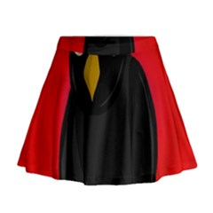 Halloween - old raven Mini Flare Skirt