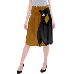 Halloween - old black rawen Midi Beach Skirt