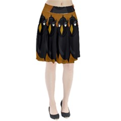 Halloween   Old Black Rawen Pleated Skirt