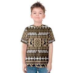 African Vector Pattern Kids  Cotton Tee