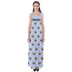 Alien Pattern Empire Waist Maxi Dress