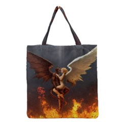 Angels Wings Curious Hell Heaven Grocery Tote Bag