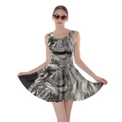 Angry Male Lion Skater Dress