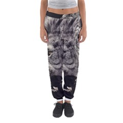 Angry Male Lion Women s Jogger Sweatpants