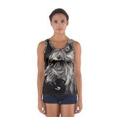 Angry Male Lion Women s Sport Tank Top
