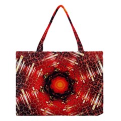 Angled Fractal Medium Tote Bag