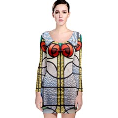 Antique Stained Glass Long Sleeve Bodycon Dress