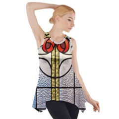 Antique Stained Glass Side Drop Tank Tunic