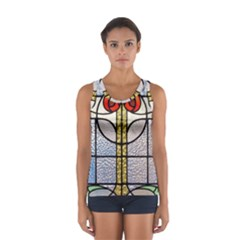 Antique Stained Glass Women s Sport Tank Top
