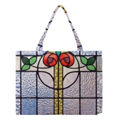 Antique Stained Glass Medium Tote Bag