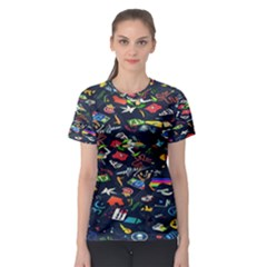 Application Icons Computer Women s Sport Mesh Tee