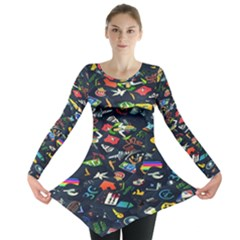 Application Icons Computer Long Sleeve Tunic