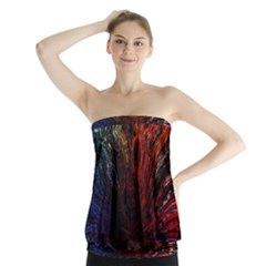 Architectural Fractal Pattern Strapless Top