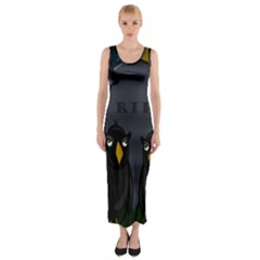 Halloween - RIP Fitted Maxi Dress
