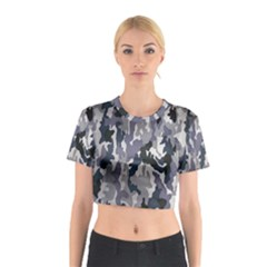 Army Camo Pattern Cotton Crop Top