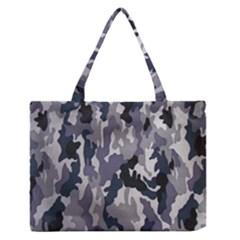 Army Camo Pattern Medium Zipper Tote Bag