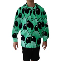Art Alien Pattern Hooded Wind Breaker (Kids)