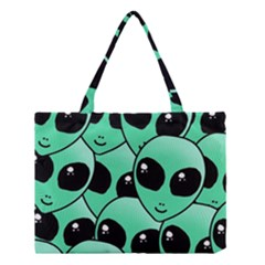 Art Alien Pattern Medium Tote Bag