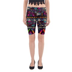 Art Abstract Pattern Yoga Cropped Leggings