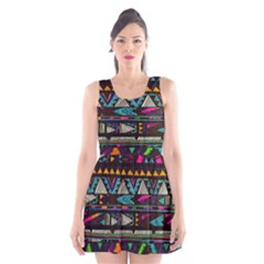 Art Abstract Pattern Scoop Neck Skater Dress