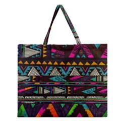 Art Abstract Pattern Zipper Large Tote Bag