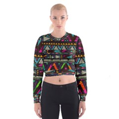 Art Abstract Pattern Women s Cropped Sweatshirt
