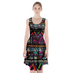 Art Abstract Pattern Racerback Midi Dress