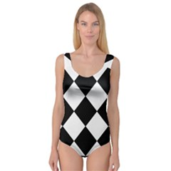 black white Princess Tank Leotard