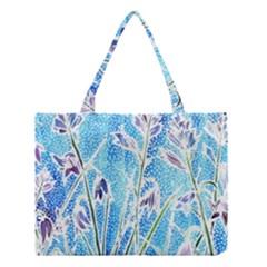 Art Batik Flowers Pattern Medium Tote Bag